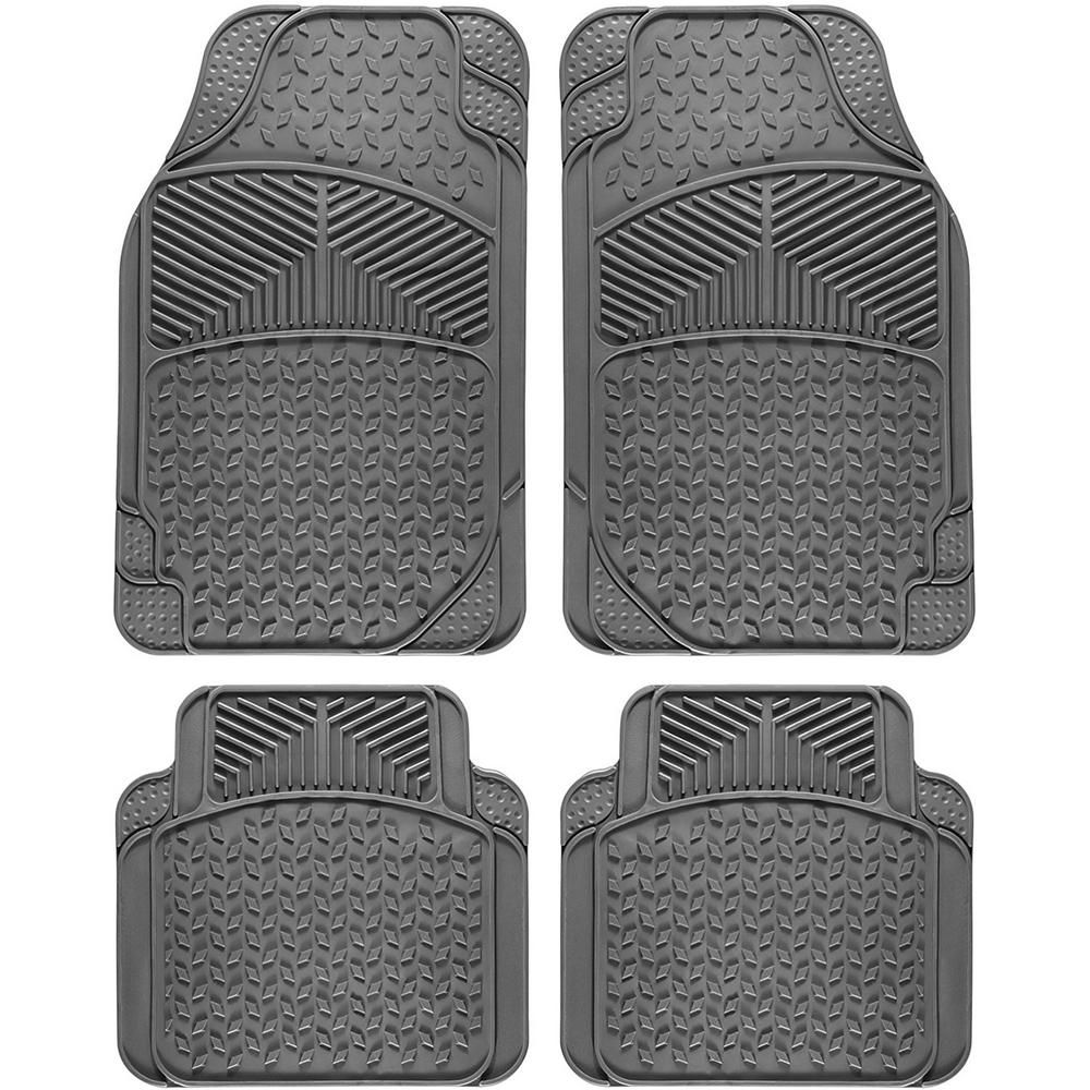 OxGord Tail Fin Style Gray 4Piece 27.4 in. x 17.7 in