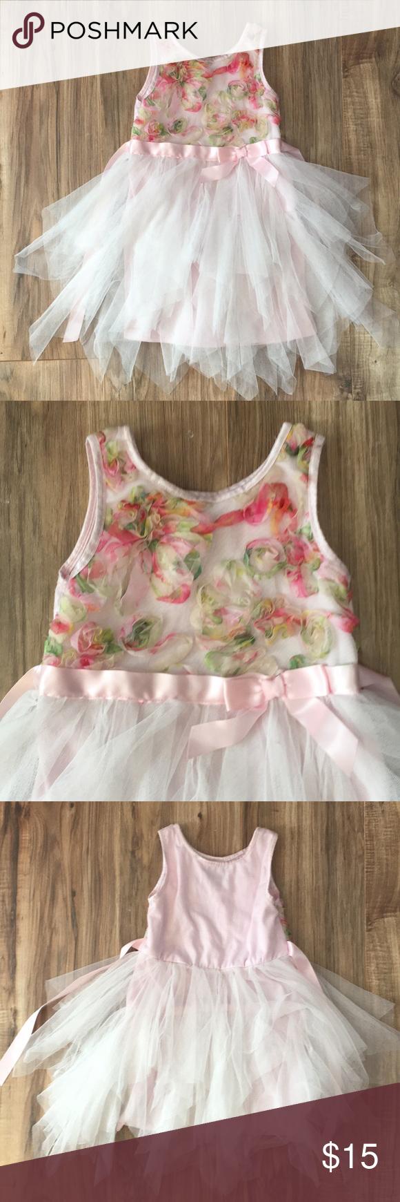Lilt Pink Dress W Tulle Skirt 4t Pink Dress Dresses Clothes Design [ 1740 x 580 Pixel ]