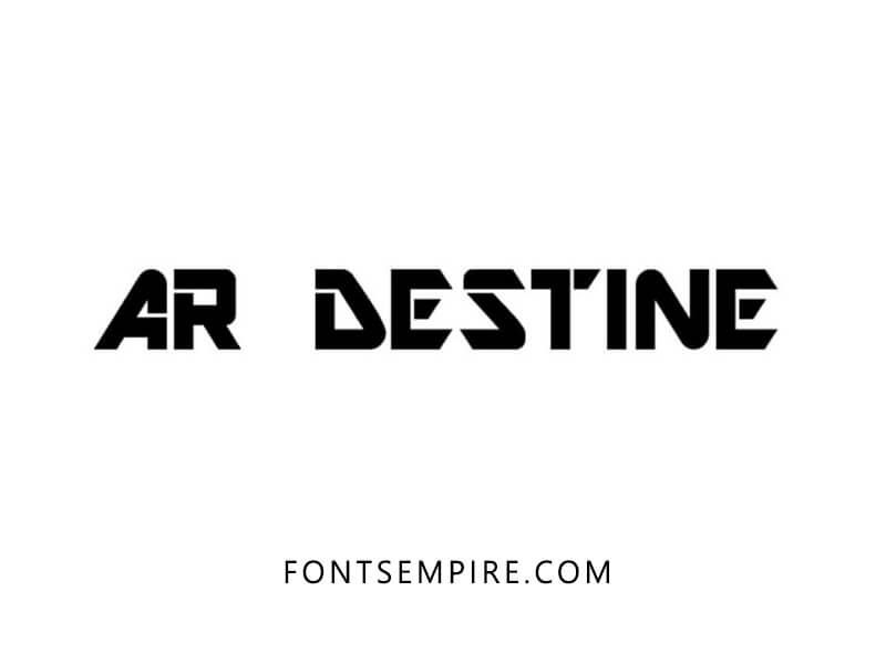 AR Destine Font Free Download - Fonts Empire | AR Destine Font