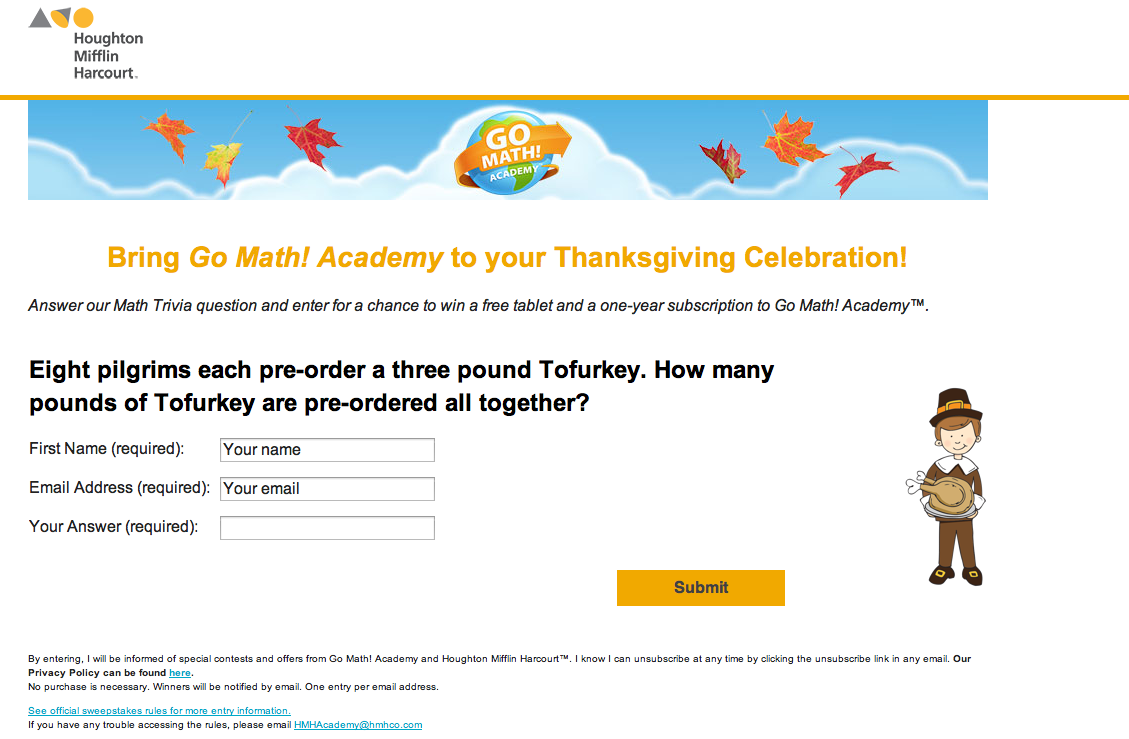 Get Excited For Yummy Food Family And A Few Touchdowns With Our Latest Sweepstakes And Enter For A Chance To Win A Free Go Math Thanksgiving Math Math Facts [ 739 x 1129 Pixel ]