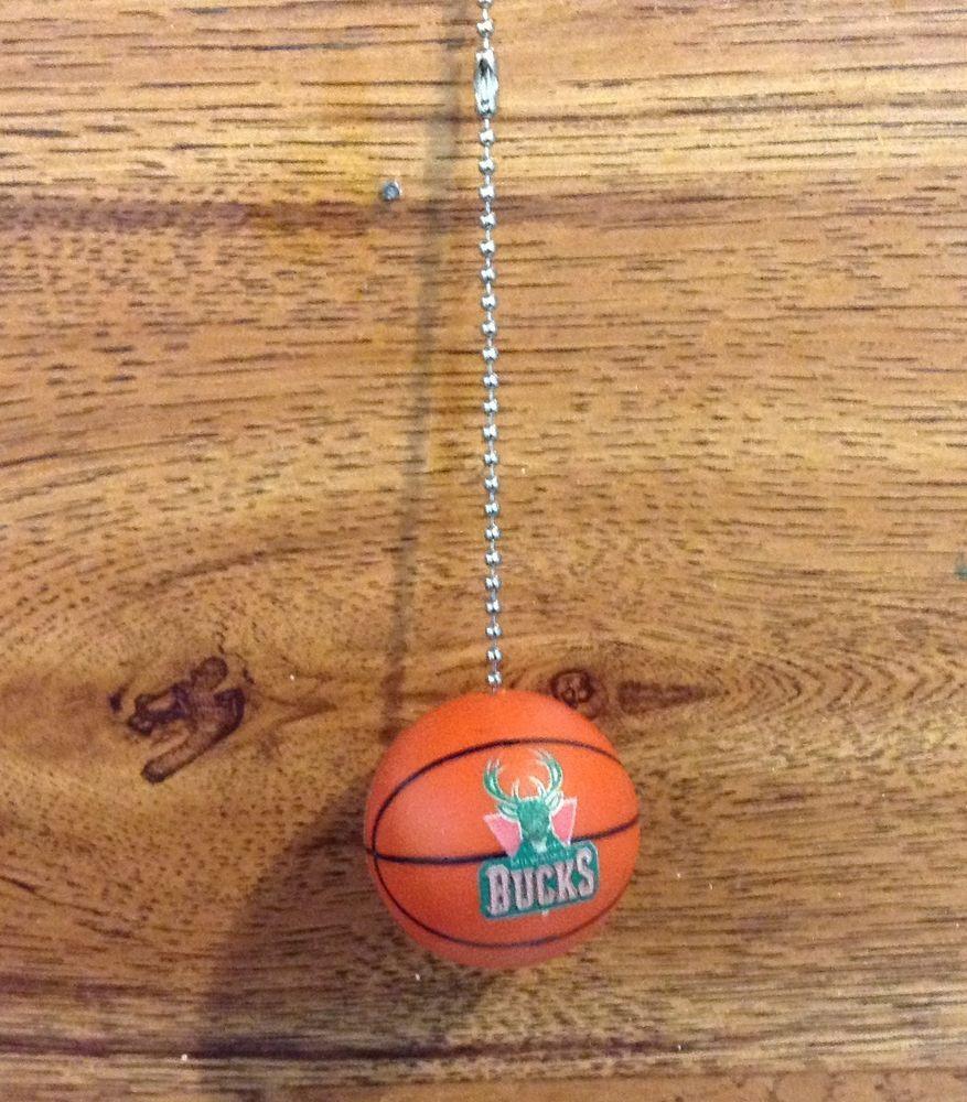 Milwaukee Bucks Handmade Plastic Basketball Ceiling Fan Pull #Handmade