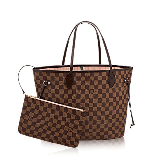 Neverfull MM Damier Ebene Canvas - Handbags | LOUIS VUITTON