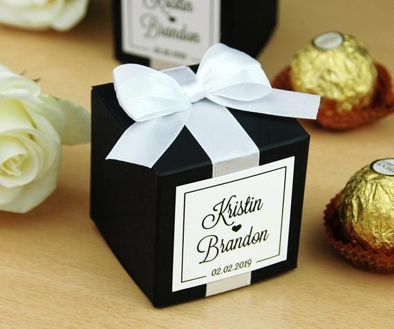 Personalized wedding favor boxes for guests  Elegant Wedding
