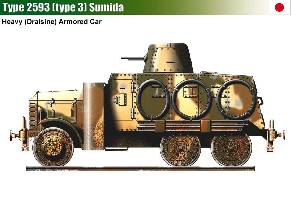 Type 2593 Type 3 Sumida Armored Car Armored Vehicles Japanese