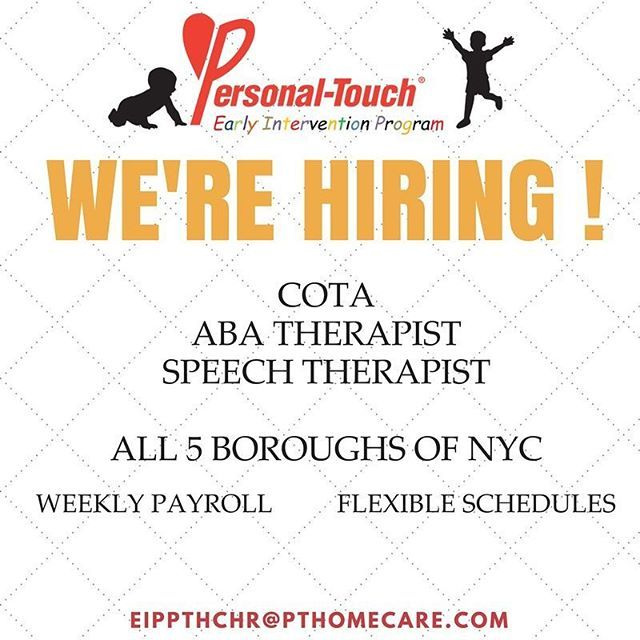we are hiring! -certified occupationa therapists - aba therapists ...