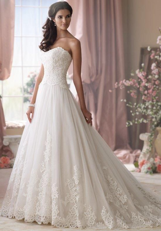 cefa4ace33684 2014 New white ivory wedding dress custom size 2 4 6 8 10 12 14 16 18 20  22. David Tutera ...