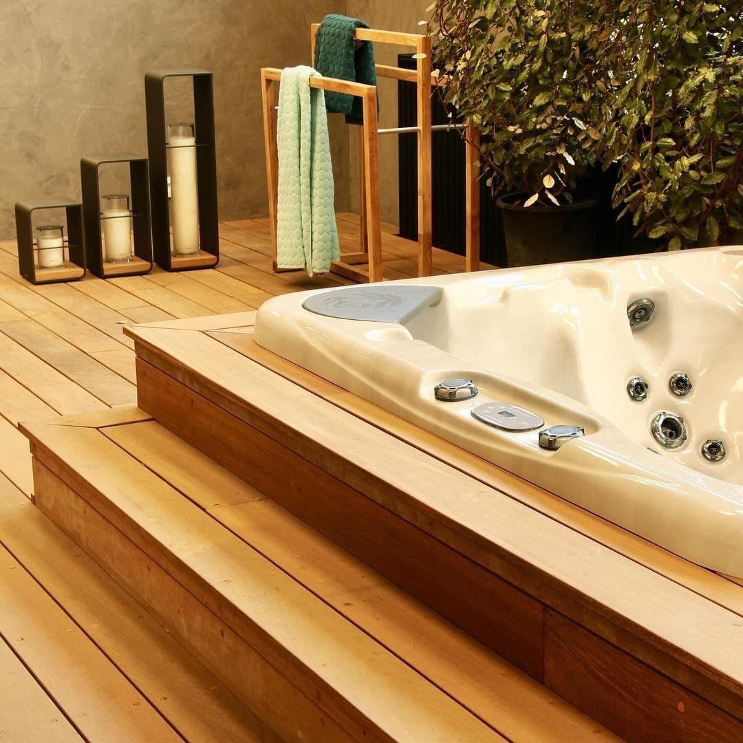 Beautiful spa inspired backyard! Spa inspiration