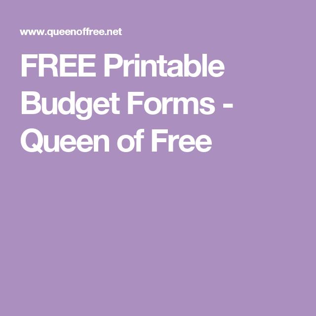 free printable budget forms budget forms printable budget and