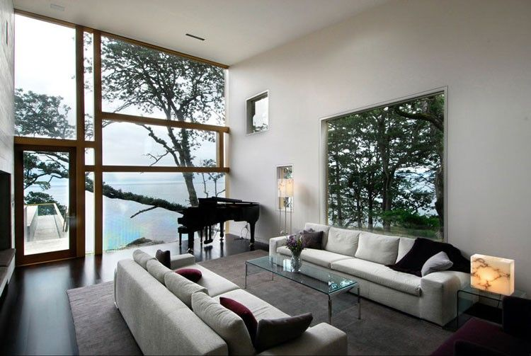 Large Living Room Window Minimalist Swaniwck Living Room With Large Windows  For The Home  Pinterest .