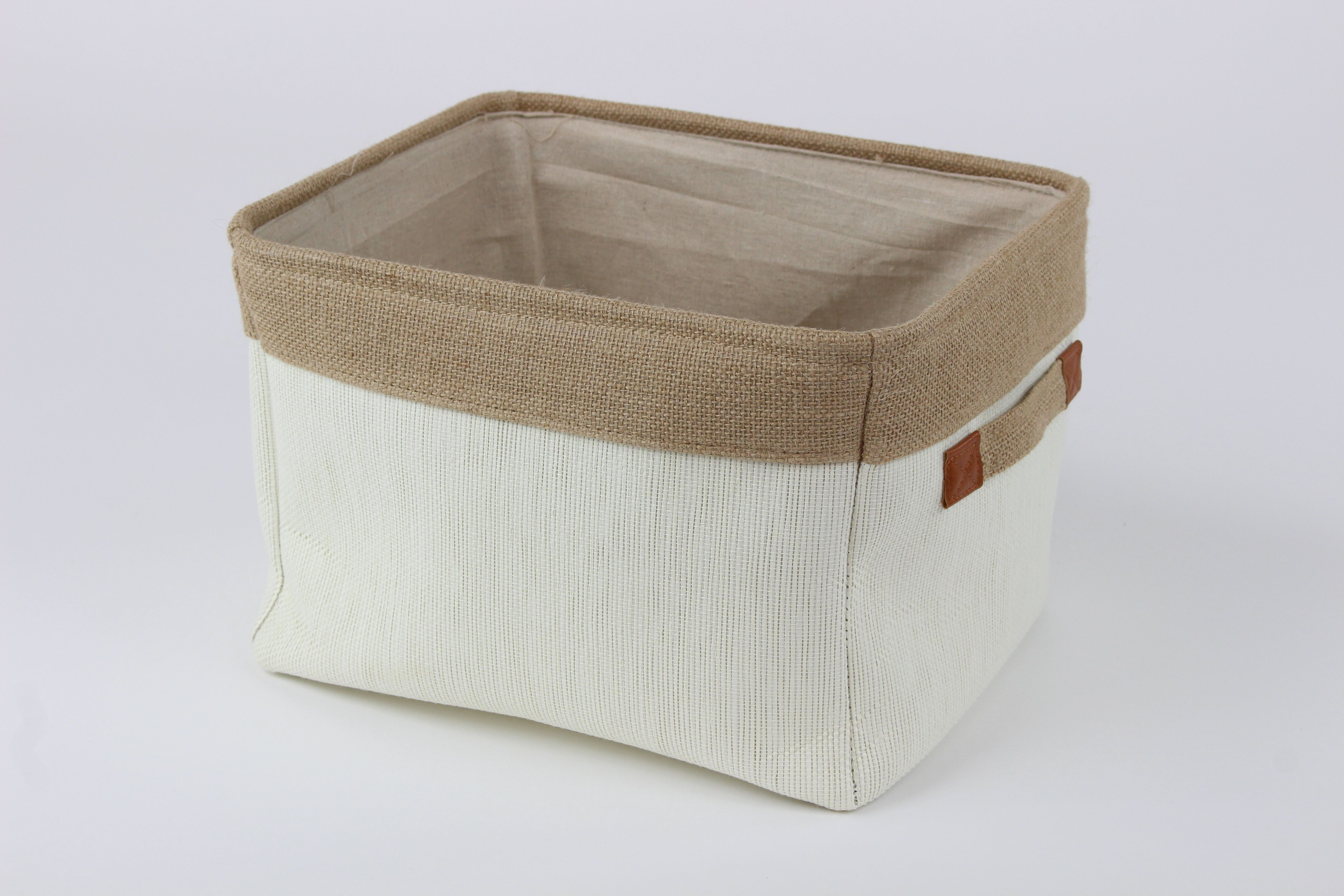 Introducing Our Soft Cream Canvas Storage Basket This Basket Is Complete With A Rustic Feel And Handles Canvas Storage Storage Baskets Wicker Baskets Storage
