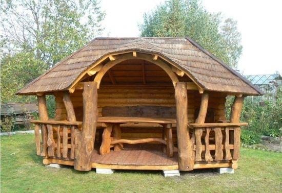 Foisor Rustic Din Lemn Rotund Outdoor Furniture Design Outdoor Diy Projects Diy Outdoor Furniture