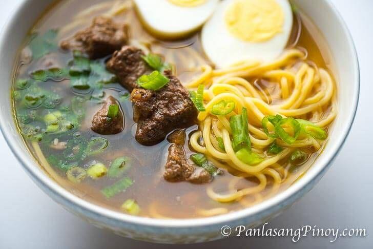 Beef Pares Mami Noodles Recipe Panlasang Pinoy Recipe Beef Pares Recipes Soup Dish