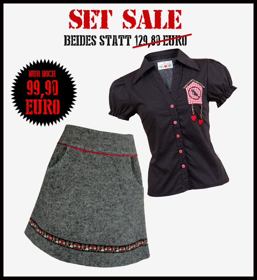 Special Set Sale skirt and blouse from my heart bleeding in my lifeblood shop