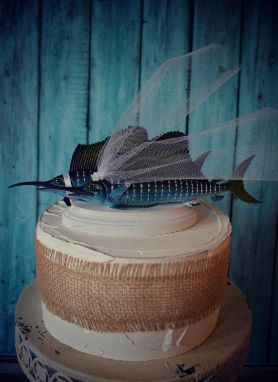 Marlin Wedding Cake Topper Sport By MorganTheCreator On Etsy