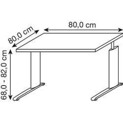 Photo of Röhr height-adjustable desk gray square Röhr