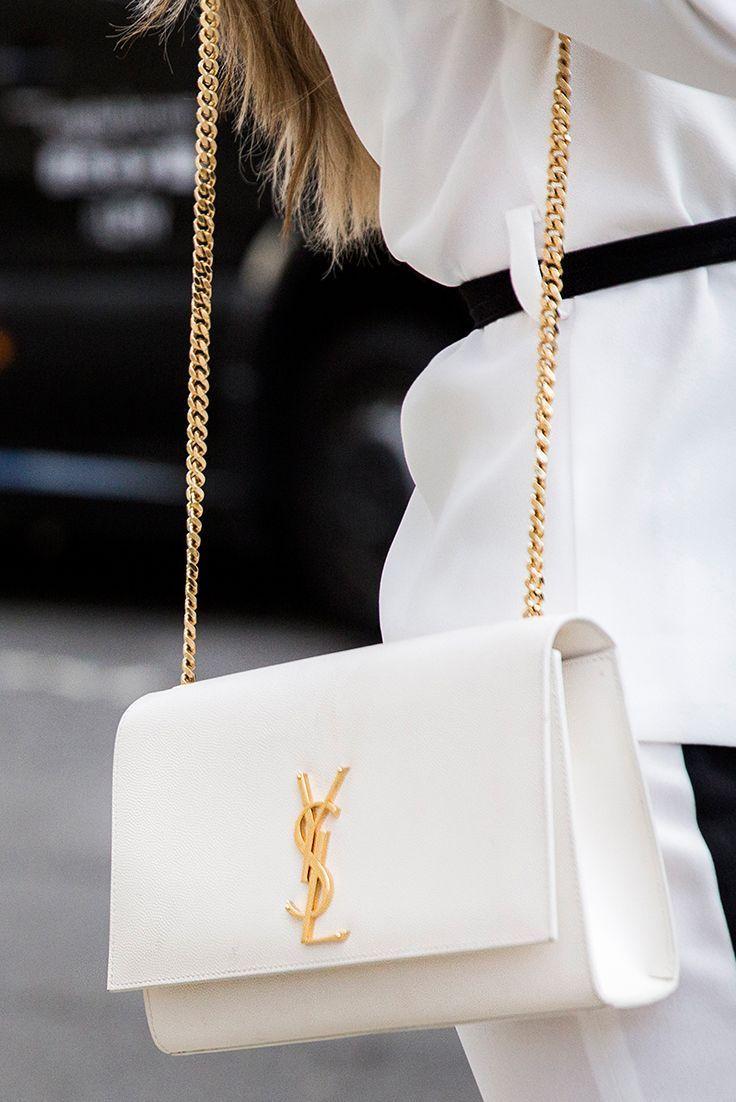 Bags | Tassen | Bag | Tas | Shoulderbag | Schoudertas | YSL | Yves Saint Laurent | White | Wit | Gold | Goud | Inspiration | Inspiratie | More On Fashionchick | Meer Op Fashionchick