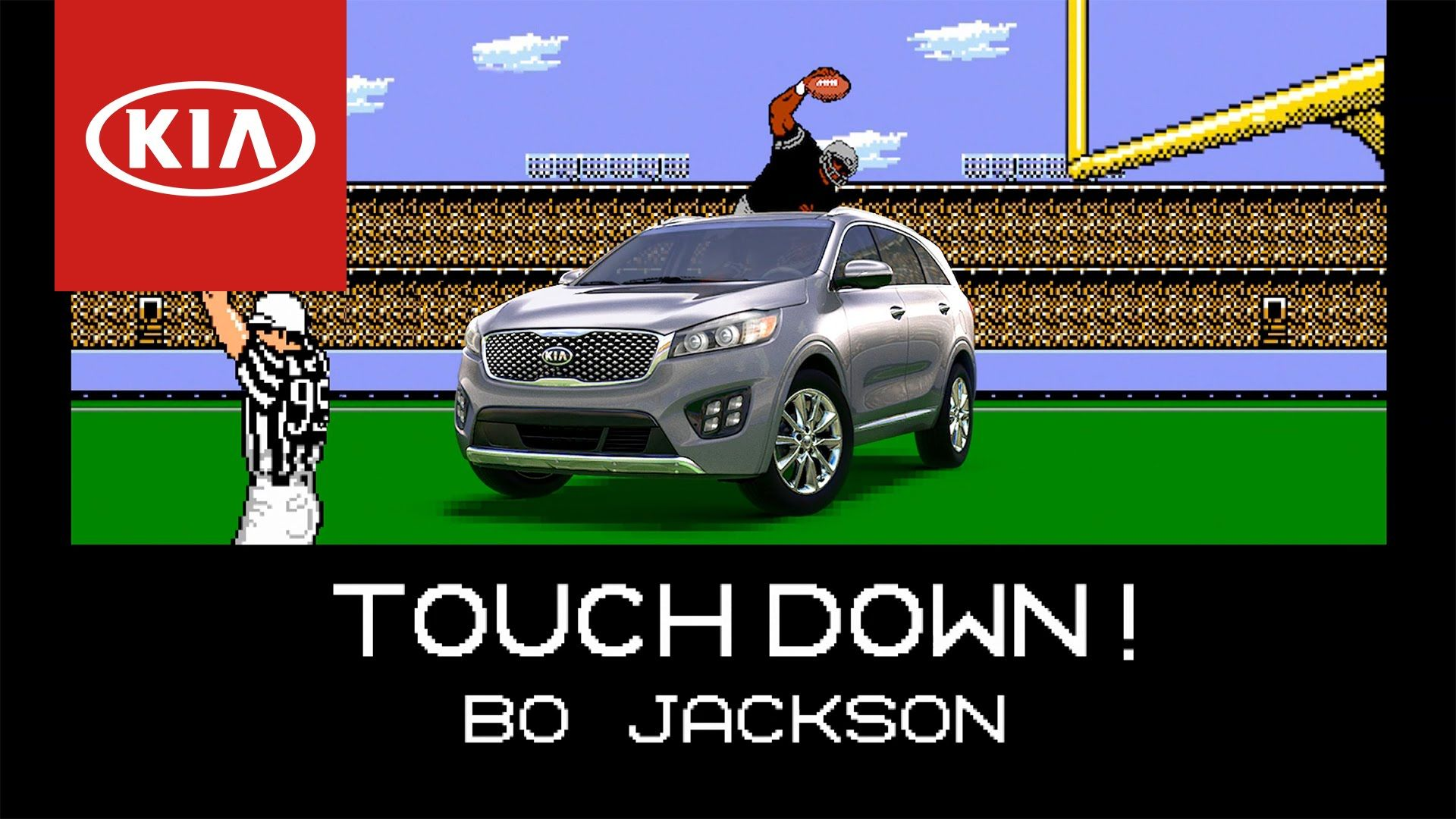 Tecmo Bo Jackson Scores His Longest Most Unstoppable Touchdown Run Yet Thanks Kia Bo Jackson Kia Sorento