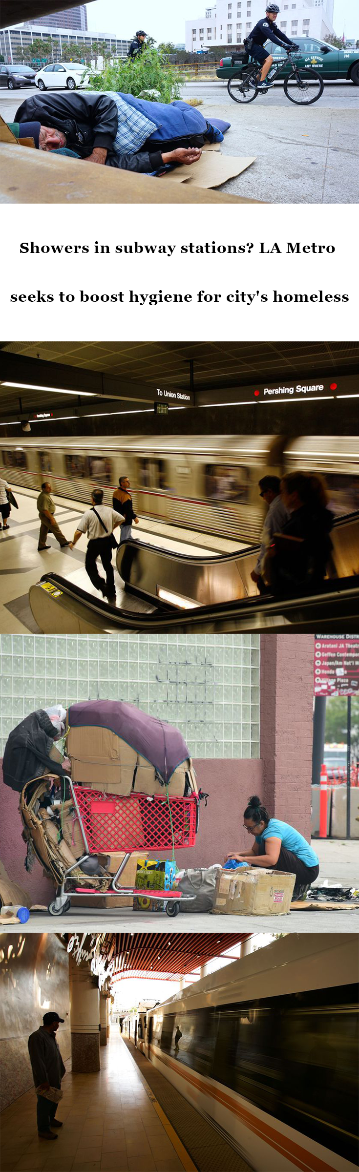 Showers In Subway Stations La Metro Seeks To Boost Hygiene For City S Homeless La Metro City Subway