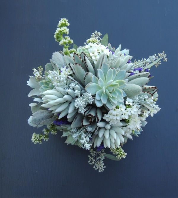 Succulent bouquet vintage mint wedding all things for A lot of different flowers make a bouquet