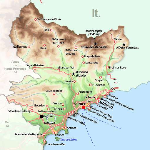 South Of France And Italy Map.Southern France Map France France Map France Travel Houses In