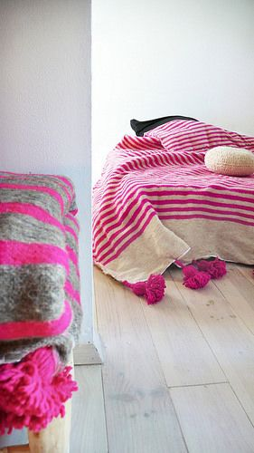 muima2 pink striped bed cover muima2 | by Milk Wom