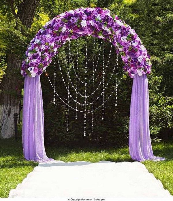 20 beautiful wedding arch decoration ideas royal purple for Arch decoration pictures