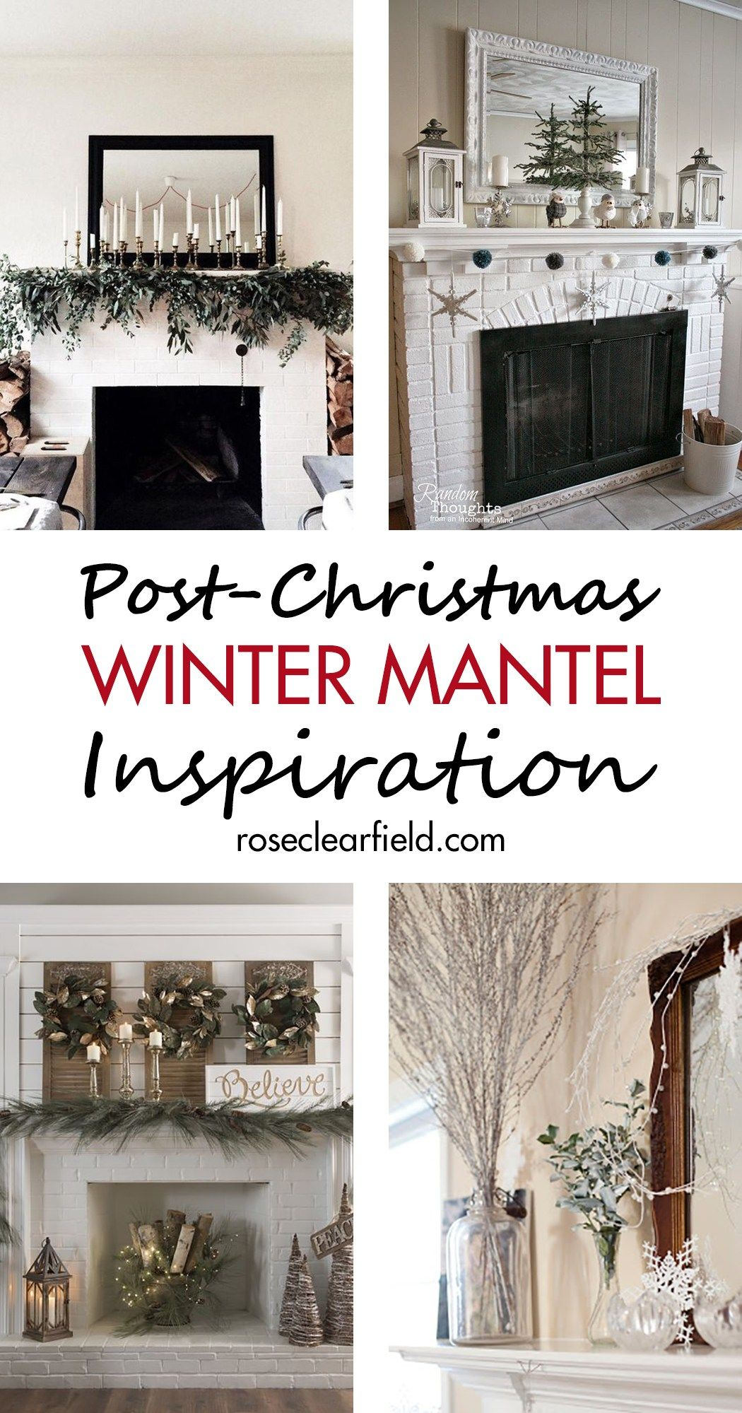 Photo of Post-Christmas Winter Mantel Inspiration