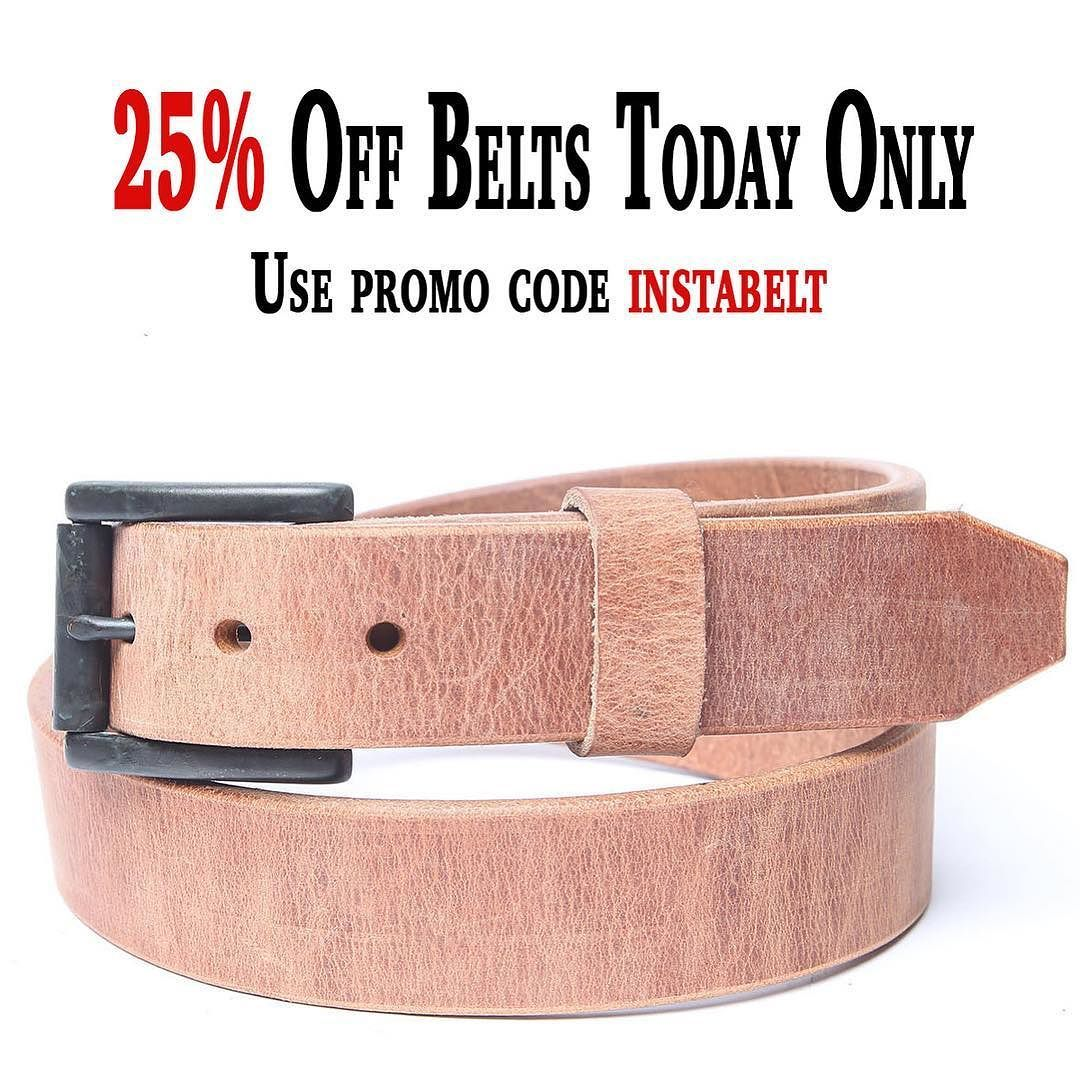 Save 25% on all belts today. Use promo code instabelt at checkout.