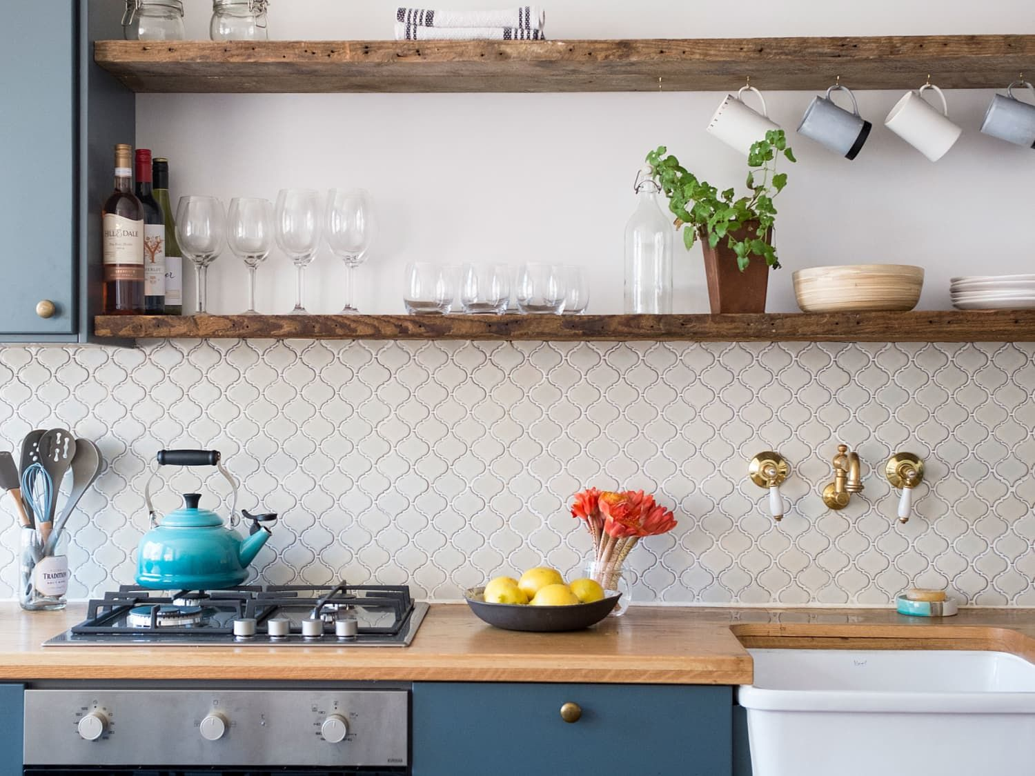 8 Kitchen Cabinet Paint Jobs We Just Can T Quit Painted Kitchen Cabinets Colors White Tile Kitchen Backsplash Painting Kitchen Cabinets
