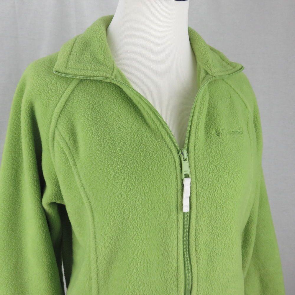 Womens Lime Green Fleece Jacket Designer Jackets