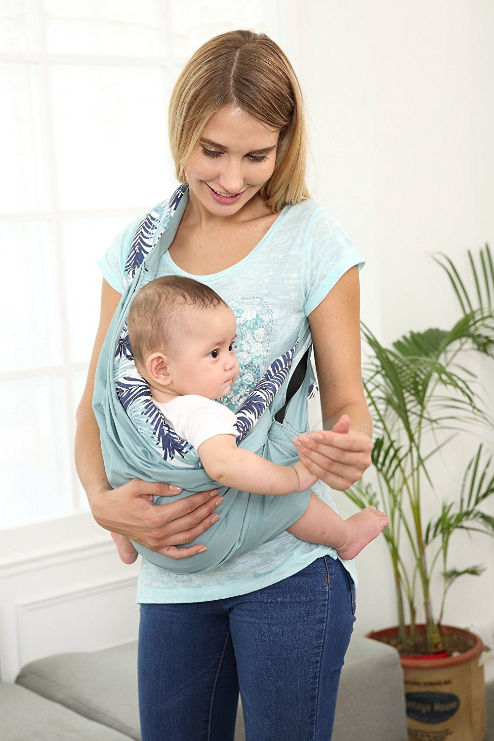 4d7ce02896a breastfeeding cover - Baby Sling Carrier Baby Wrap by TIANER Natural Cotton wrap  Sling for baby