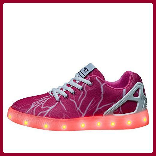 sale retailer 5cba5 17ae5 BOMOVO LED Schuhe Damen USB-Lade Schuhe Leuchtschuhe ...