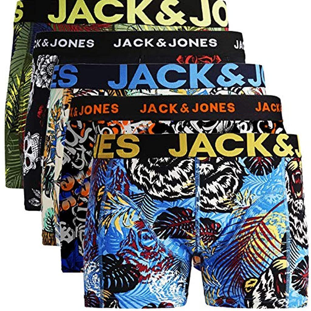 Jack Jones Herren 5er Pack Boxershorts Mix Unterwasche Mehrpack Bekleidung Herren Unterwasche Boxershorts In 2020 Boxershorts Boxer Unterwasche