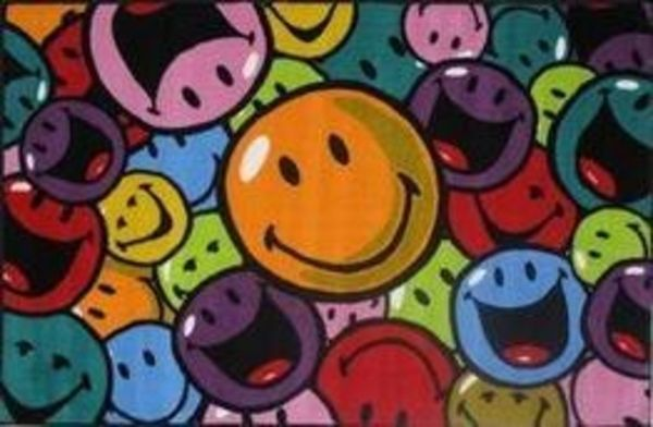 """La Rug Smiley World Collection Smiles & Laughs Rug 39"""" x 58"""" SW-153958"""