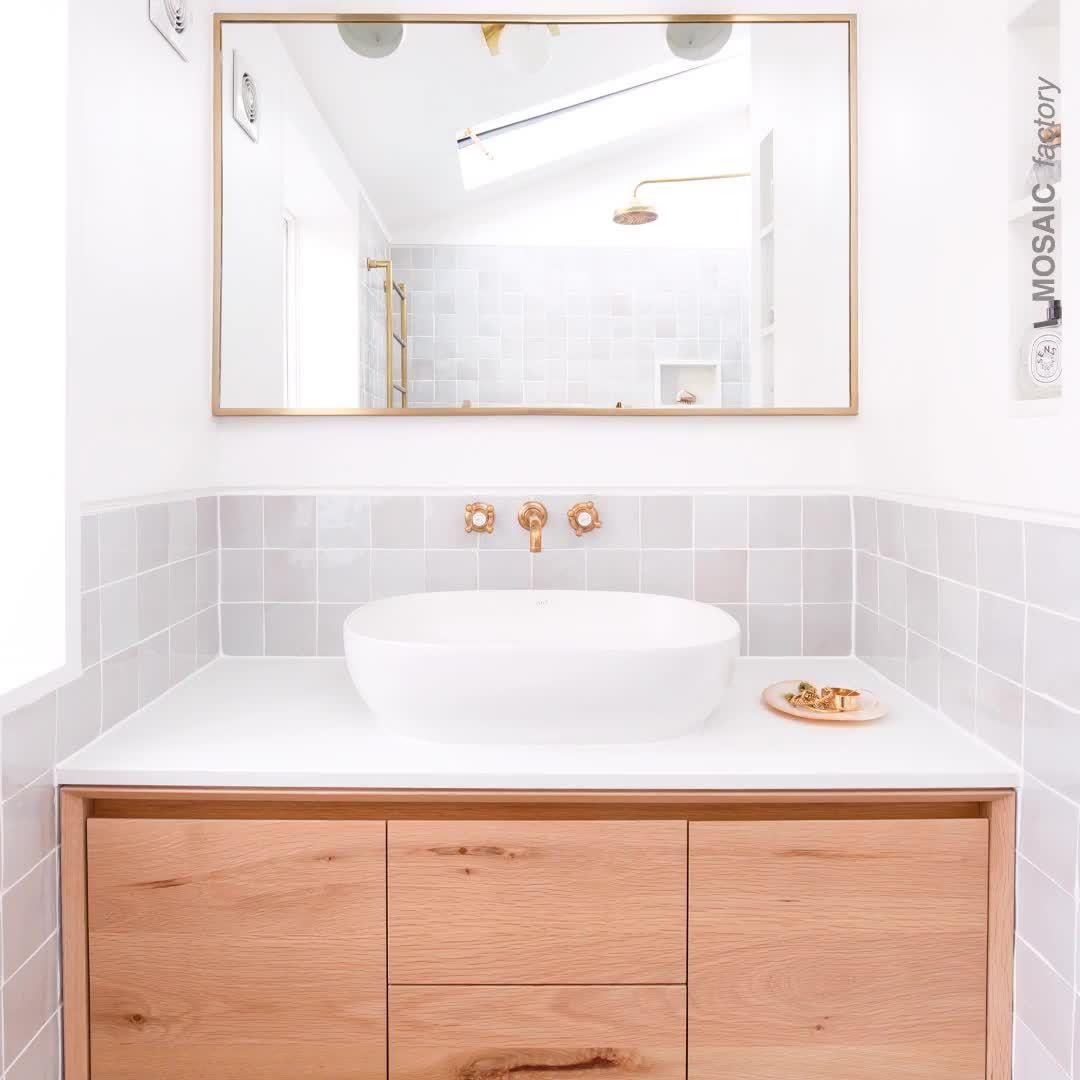Light Grey Bathroom Tiles | MOSAIC FACTORY