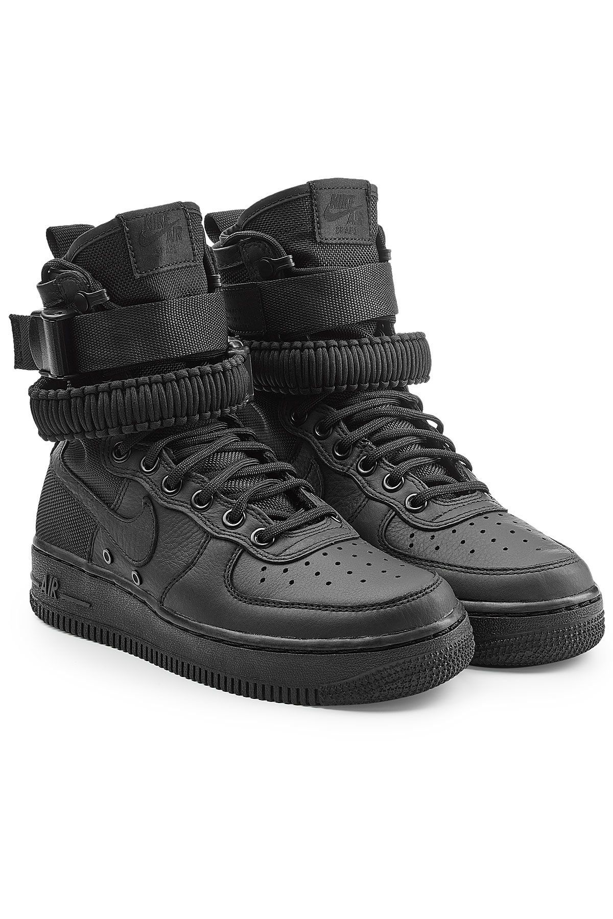 reputable site 2e237 f6ec5 NIKE SF AIR FORCE 1 HIGH TOP SNEAKERS WITH LEATHER.  nike  shoes