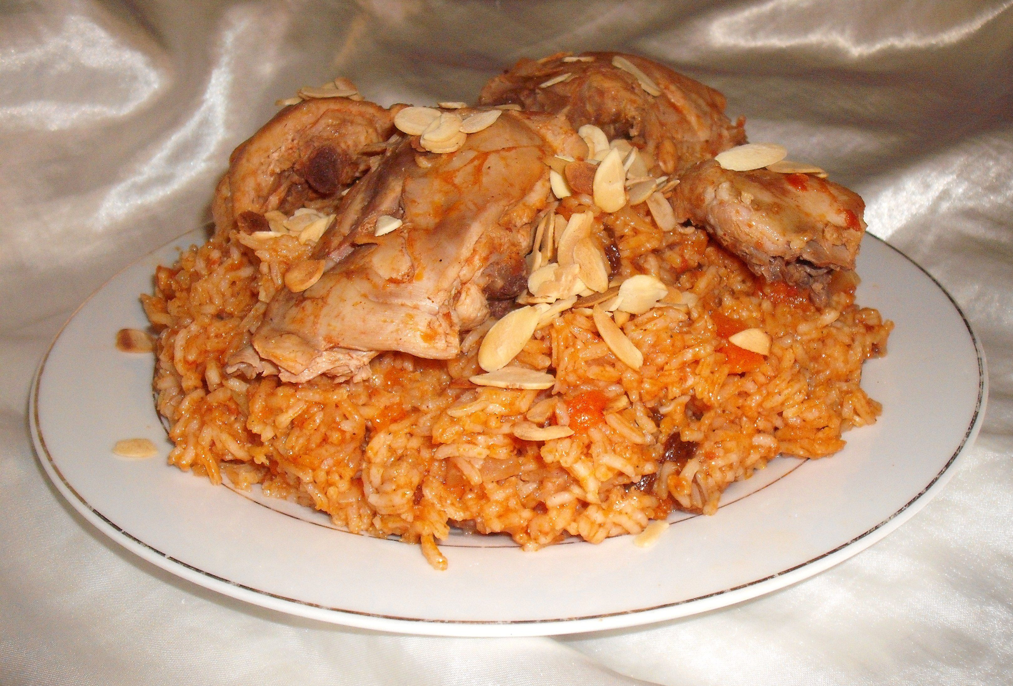 Al Kabsa Traditional Saudi Rice Chicken Dish Recipe Food Com Recipe Chicken Dishes Recipes Chicken Dishes Kabsa Recipe