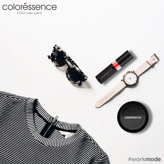 #WorkMode Activated! Give your #monochrome look a dash of red this week! #Coloressence