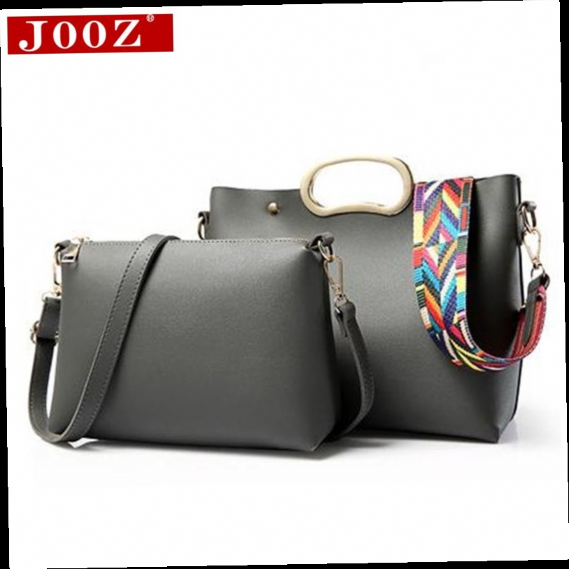 53.78$  Buy here - http://ali73d.worldwells.pw/go.php?t=32739191247 - JOOZ New brand solid leather bag vintage handbag womens Composite tote bags female crossbody bags for women handbag 2 sets 53.78$