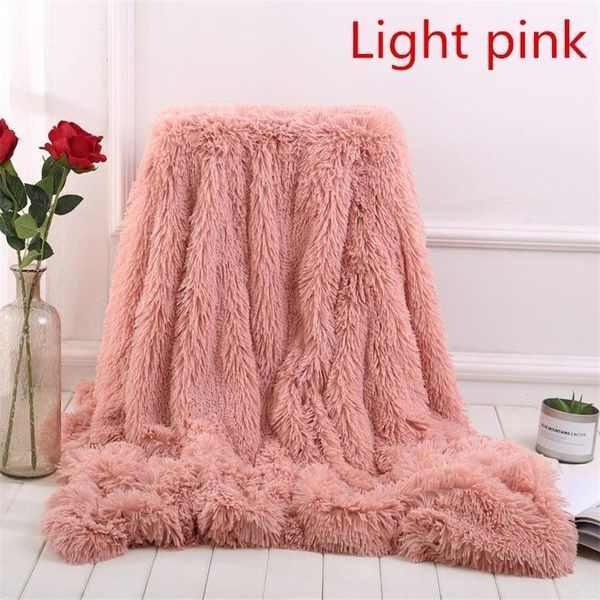 2018 New 13 Colors Super Soft Blankets For Beds Shaggy Faux Fur
