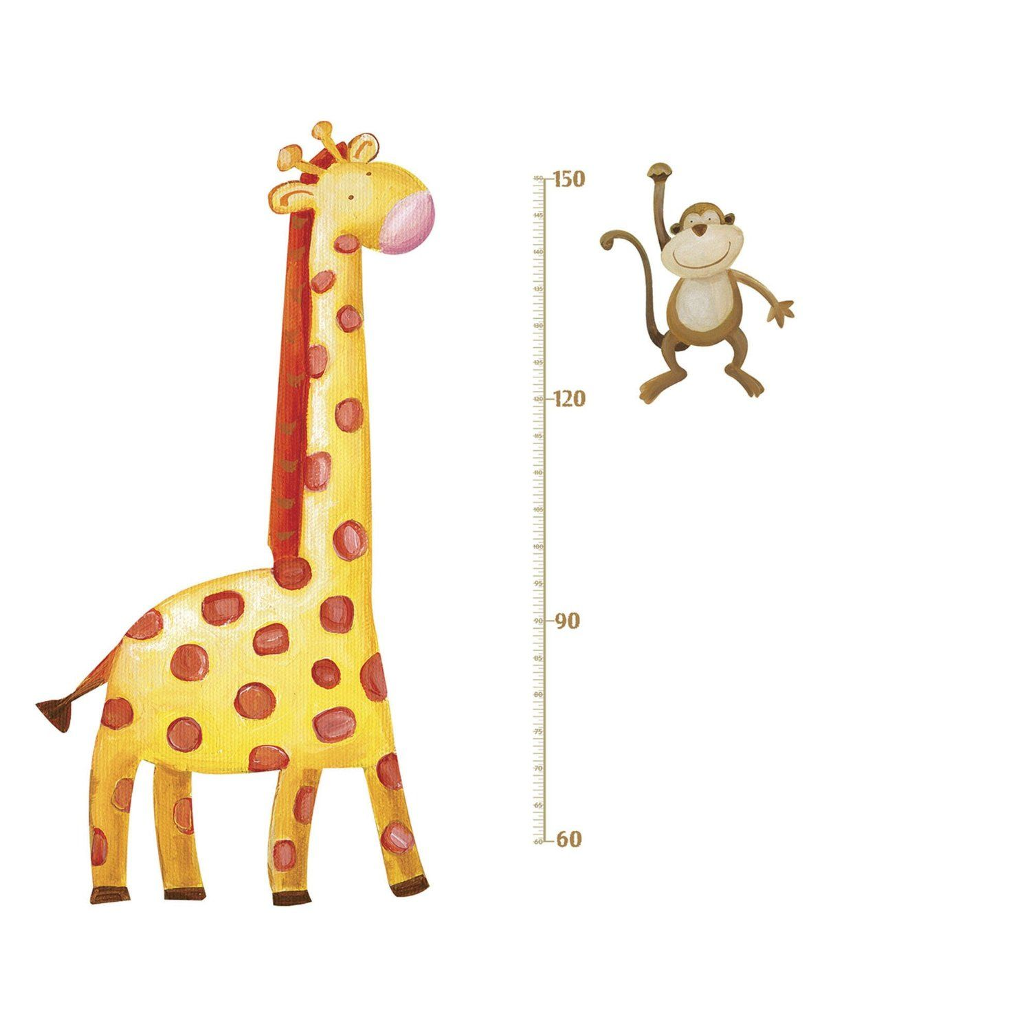 Jomoval roommates repositionable childrens wall stickers jungle jomoval roommates repositionable childrens wall stickers jungle adventure giraffe growth chart multi colour geenschuldenfo Image collections