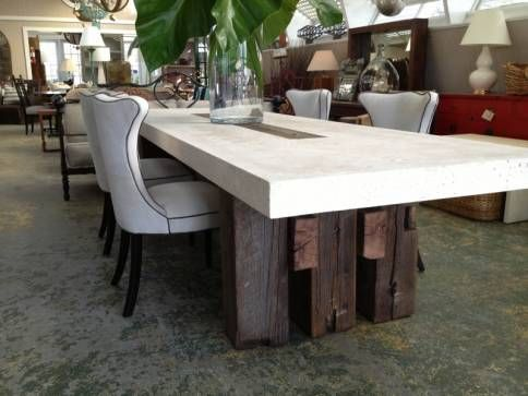 Suma Outdoor Cast Stone Dining Table Concrete Outdoor Dining