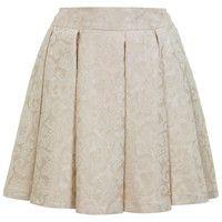 Cream Jacquard Skater Skirt - Miss Selfridge
