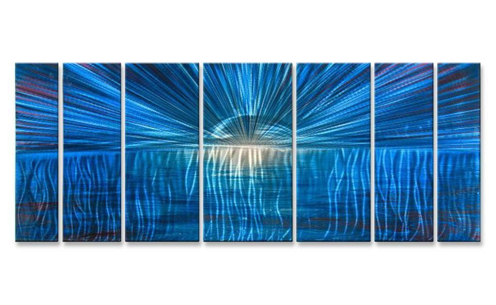 Large Abstract Painting on Metal Wall Art by Artist Ash Carl Modern ...