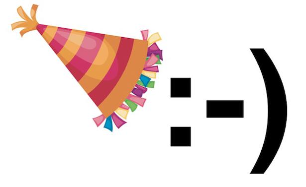 Today, the Emoticon turns 30 :-)  thanks Scott Fahlman!