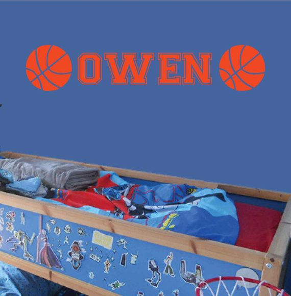 FREE SHIPPING Owen Basketball Monogram Wall Decal Personalized - Advertize monogram wall decals