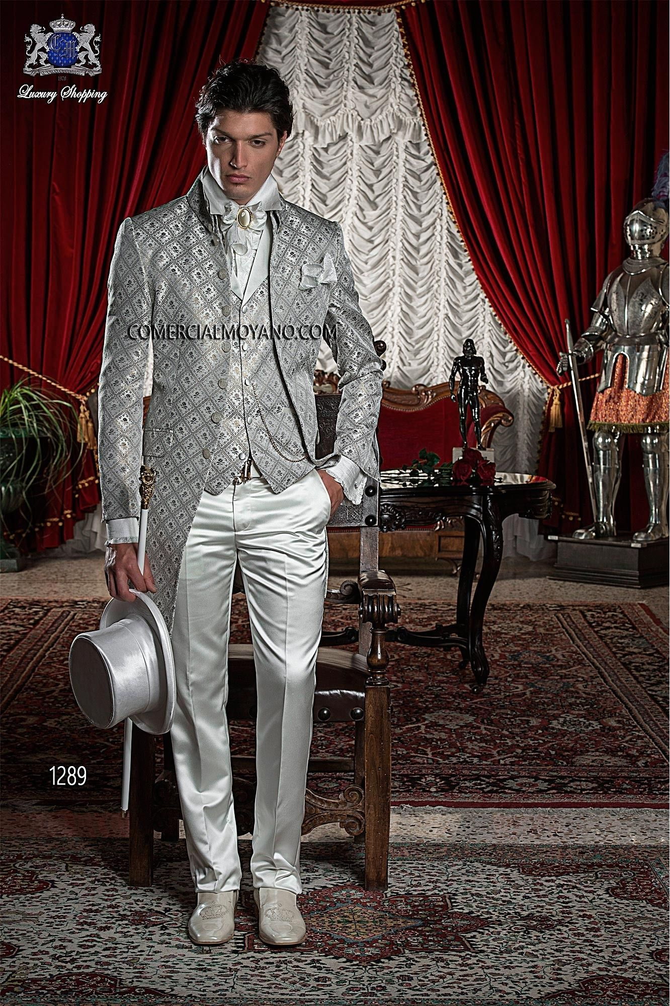 Baroque goldgray men wedding suit ottavio nuccio gala