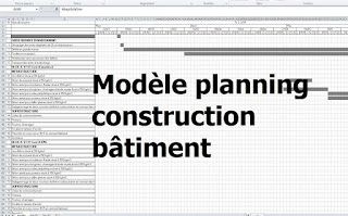 Exemple De Modèle Planning Travaux Construction Bâtiment   Excel
