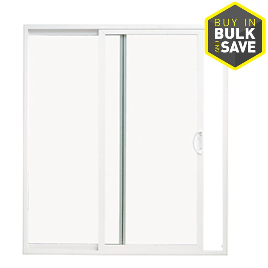 Thermastar By Pella 10 Series 71 5 In Clear Gl White Vinyl Sliding Patio Door