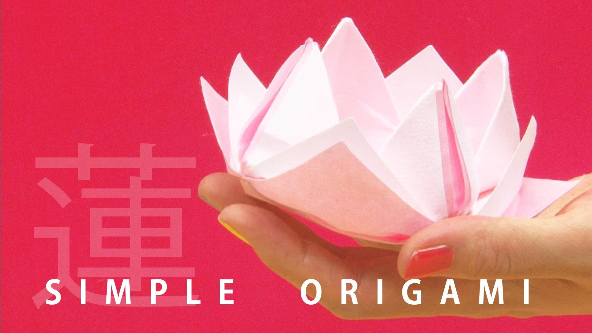 Origami lotus 3 mins origami tutorial with beautiful japanese origami lotus 3 mins origami tutorial with beautiful japanese paper izmirmasajfo